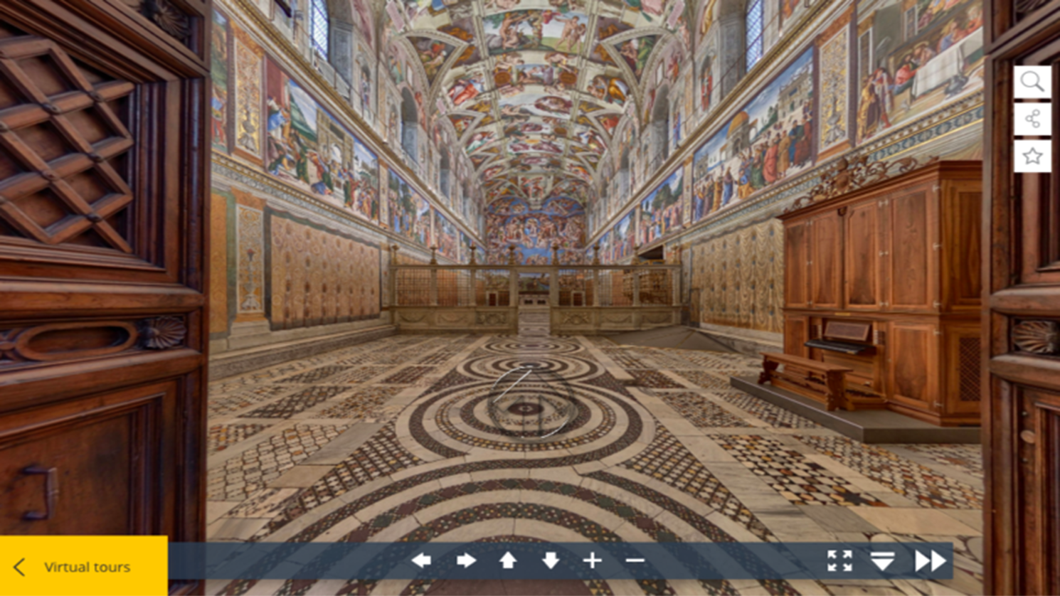 The Sistine Chapel explored through the Vatican's virtual portal / ©museivaticani.va